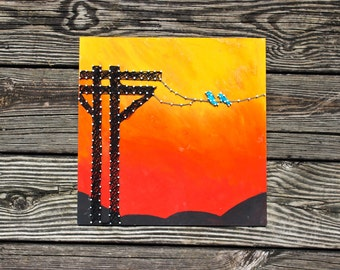 Birds On A Wire Nail and String Art