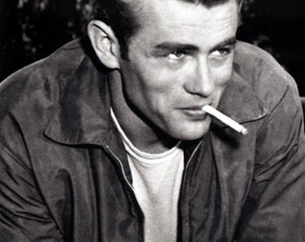 James Dean Poster, Smoking a Cig, Rebel without a Cause, Actor and Cultural Icon