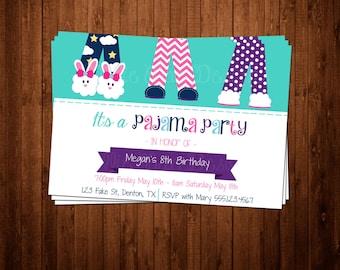 SALE 50% OFF Custom Pajama Party Invitation - Bridal Shower - Baby Shower - Retirement - Birthday Party