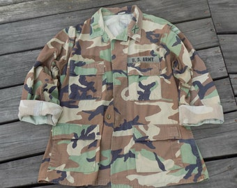 Vintage Grunge Military Tumblr Camouflage Jacket