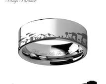 Star Wars Jewelry, Star Wars Gift, Star Wars Ring, Star Wars Band, Star Wars Engagement Ring, Tungsten, Star Wars Tungsten Ring Promise Ring