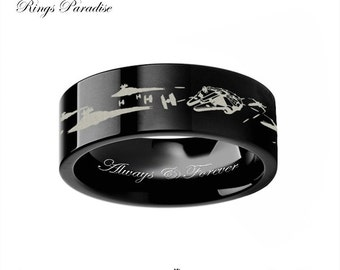 968e74e1b7e star wars couples wedding bands star wars wedding ring mens gift star space  battle mens tungsten