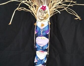 Mistress Moon Spirit Doll; Full Moon, Goddess Worship, Feminine Energy, Lunar Magic, Element of Water, Intuition, Mystery, OOAK