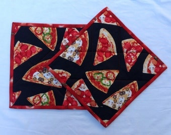 002 Pizza Party Pot Holders