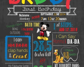 Mickey Mouse Club House Birthday Announcement