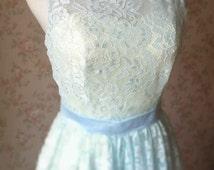 Light Blue Lace Dress. Ladies High Low Lace Dresses. Aline Party Dress 2016. Light Blue Bridesmaid Dress. Custom Frozen Wedding Gowns(BD27)