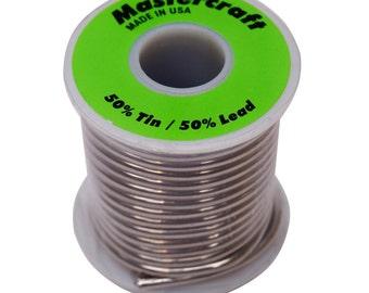 Mastercraft 50/50 Solder-1 LB Spool-Solder-Copper Foil Solder-Came and Solder