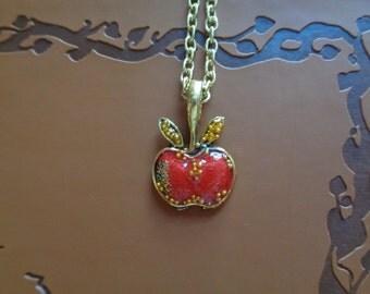 Descendants inspired apple necklace