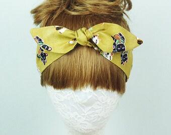 Cat headband, Hair Wrap, Women's headband, Twist turban, knot headband, yoga headband, headpiece,