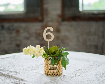 Rustic Wooden Table Numbers