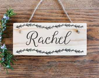 Images of Wooden Door Signs Personalized - Woonv.com - Handle idea