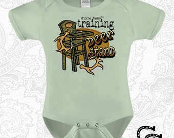 Deer Baby Clothes Training Deer Stand Onesie / Creeper / Bodysuit