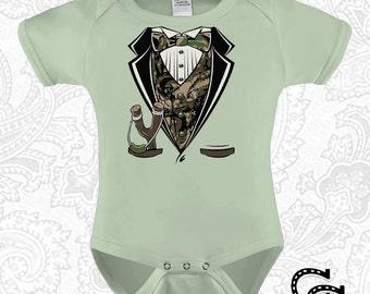 Baby Tuxedo Onesie Sling Shot / Creeper / Bodysuit