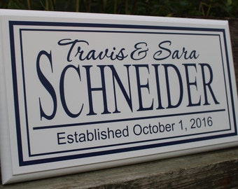 Wedding gift sign, Anniversary gift, Personalized custom name sign, Engagement gift, Bridal shower gift, Wedding gift,  Wedding present