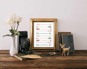 Digital Print - Colorful Arrows Digital Print - Printable Digital Prints - Wall Decor