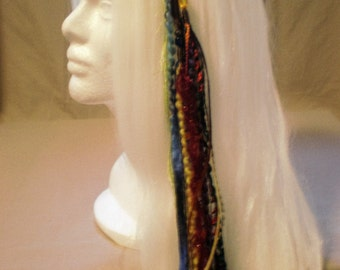 Rainbow Long Feather Hair Clip