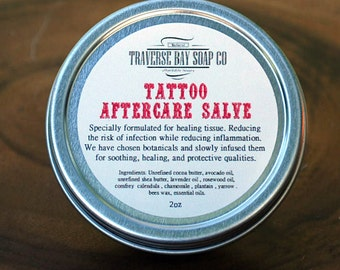 Tattoo Salve - All natural  - tattoo aftercare salve - tattoo care - tattoo balm - tattoo healing salve - tat salve