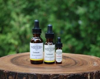 Lemon, essential oil,  100% pure essential oil, aromatherapy-soap supplies- essential oil diffuser, 1oz-1/2oz-dram