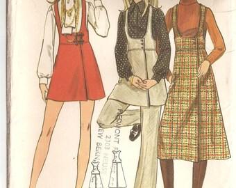 Vintage Butterick 5852 Pattern: Misses' Jumper and Pants. Size 14, Bust 36 UNCUT
