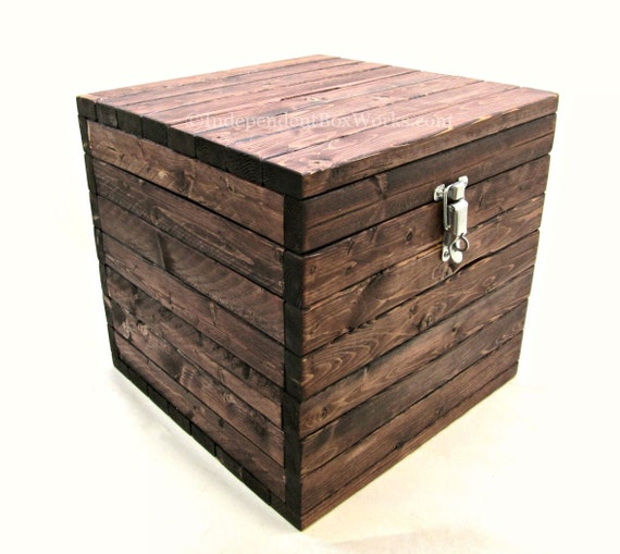 12 inch cube box with small slot in lid wooden advice box. Black Bedroom Furniture Sets. Home Design Ideas