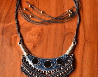"Macrame Necklace ""Cleopatra"""