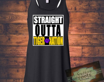 Straight Outta TIGER NATION LSU Tigers inspired tank