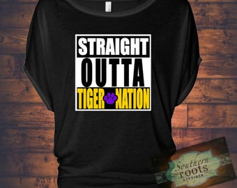 Straight Outta TIGER NATION LSU Tigers inspired top
