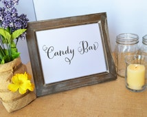Candy bar dessert bar sign table card sign wedding reception Signage candy buffet station sweet sign sweets table wedding sign rustic decor