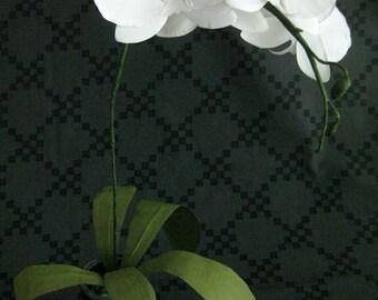 Handmade Paper Orchid in Glass Lightbulb Vase