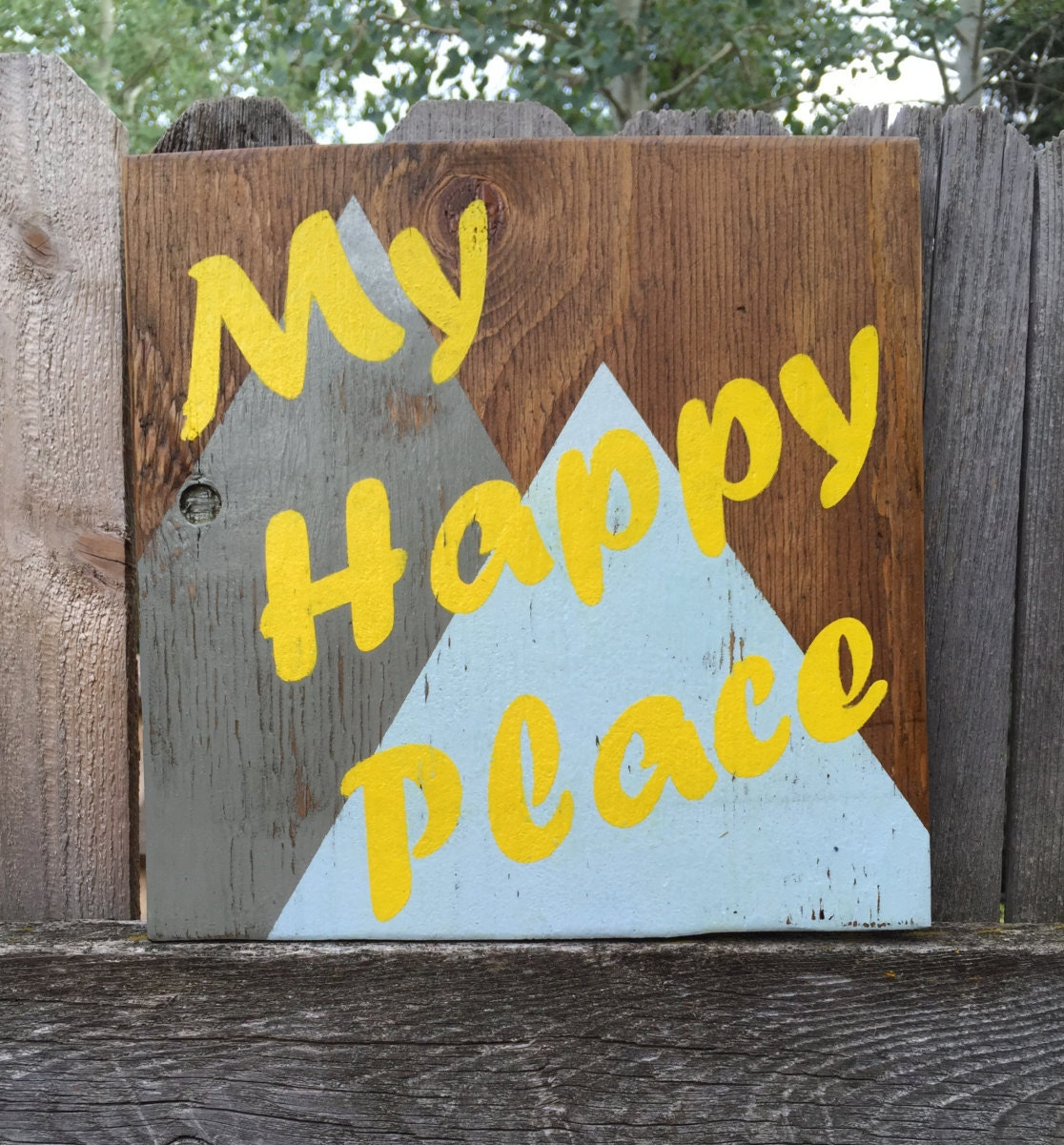 Wall Sign, My Happy Place Sign, Mountains Sign, Colorado Mountain ...