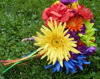 Colorful rainbow bouquet ~Gay pride bouquet~