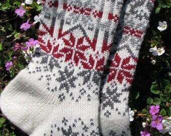 knit socks Wool socks knitted socks Norwegian socks Christmas socks Winter socks Warm socks gift to man gift to   men socks Women socks