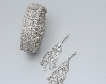 Bridal Jewelry Set, Wedding Jewelry Set, Bridal Earrings, Wedding Bracelet, Suravi Wedding Bridal Set