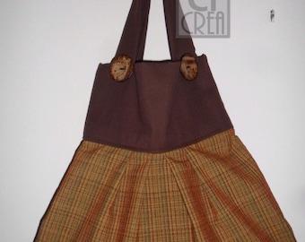 Bag in cotton ocher