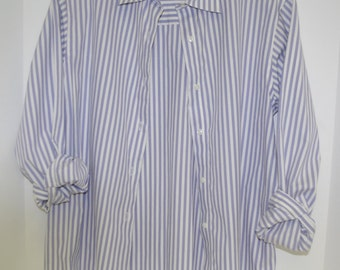 Vintage Striped Shirt By Talbot's Size 6 Cotton Made in Hong Kong FREE US Shipping