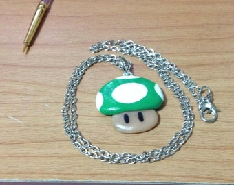 Mario inspired 1up Necklace