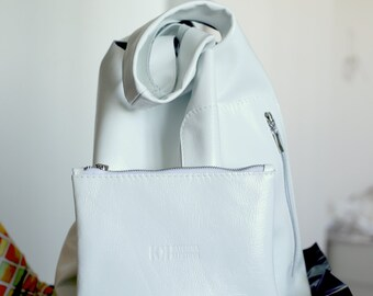 White soft handmade Bag-Tote-Handbag