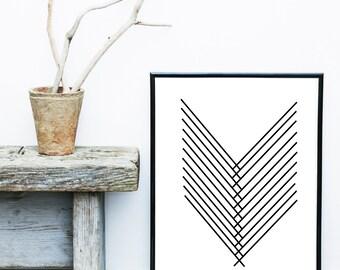 Minimalist Art Print, Printable Art, Abstract Art, Scandinavian Art, Abstract Wall Art, Modern Art Print, Instant download