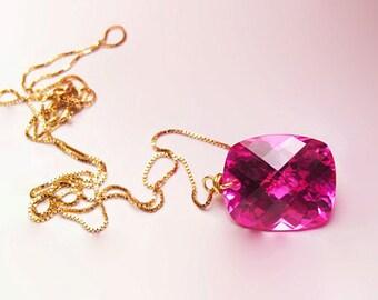 Pink Topaz Necklace