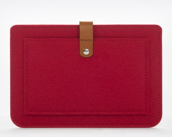iPad Mini Sleeve - iPad Case - iPad Cover - iPad Mini Felt Leather Case