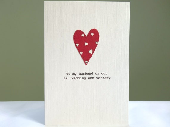 St anniversary card personalised by