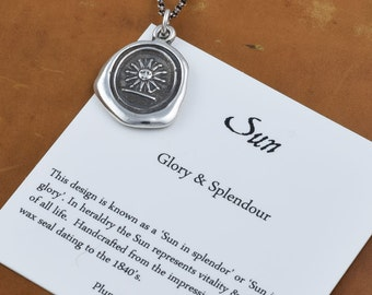 Sun in His Glory Wax Seal Necklace of Sun - 314