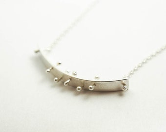 Thick Silver Horizontal Bar Layering Necklace, Feminist Jewelry