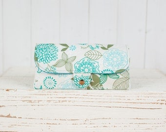 SmartPhone Purse 12x - Ultimate Wallet Clutch with ID pocket / Songbird Paradise in Sky Blue -- Ready to Ship