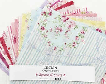 "Lecien Japan 10"" x 10"" Origami Pack layer cake fabric squares Rococo & Sweet set 42 pieces"