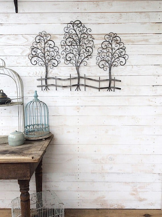 Items similar to metal tree wall art metal wall decor for Hotel decor items