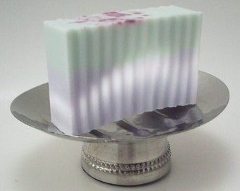 Lavender Rosemary Shea Butter Soap - Layered Soap with Essential Oil Scent - Naturally Colored Bath and Beauty