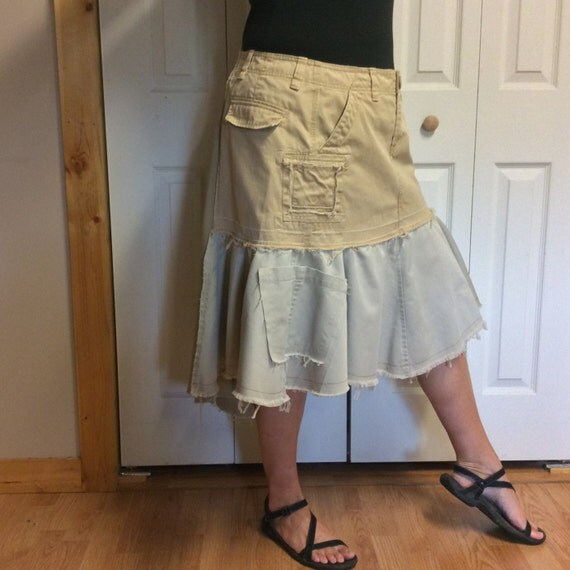 Plus Size Cargo Skirt 95