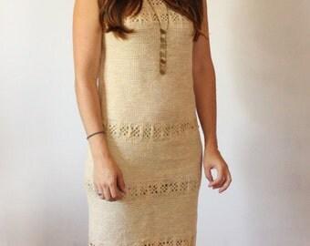 1960s cream crochet Dress