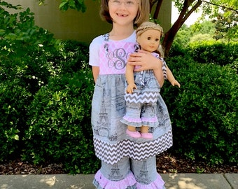 Sewing Kit with PDF Pattern Juvie Moon Designs Easy Sew Jumper Sundress BRIELLE Size 6 months to 12  and PAYDEN Size 2 to 8